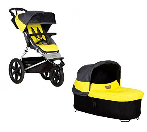 Ausstellungsstück Mountain Buggy Terrain 3 + Carrycot Babywanne solus grau/gelb