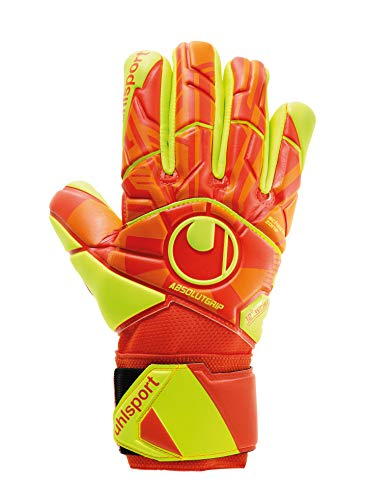 uhlsport Jungen Impulse ABSOLUTGRIP HN Torwarthandschuhe, Dynamic Orange/Fluo Gelb, 10.5