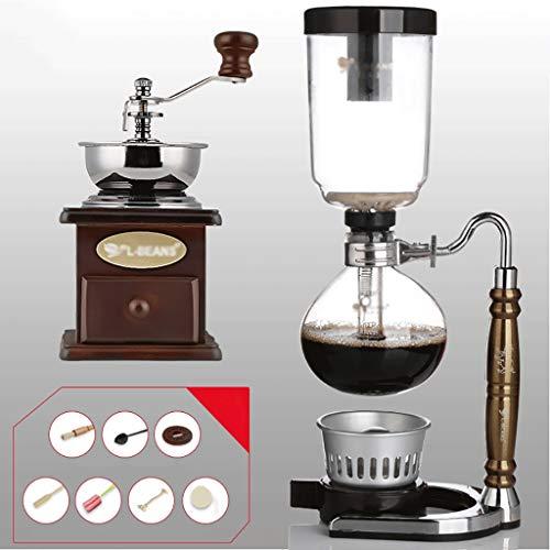 サイフォン サイフォンコーヒーメーカーセットコーヒーサイフォンテクニアゾディアックトーテムサイフォンポットコーヒーポット11色、3カップ、110 * 352 mm (色 : K k)