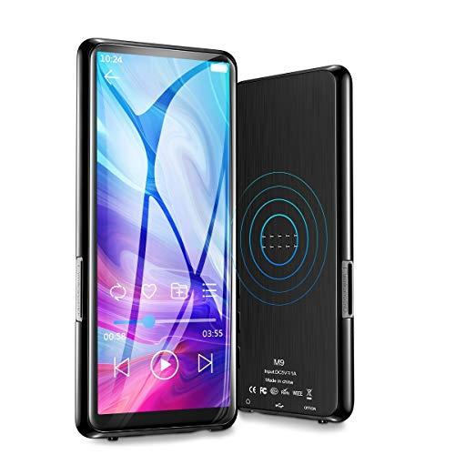 MP3 Player Bluetooth 5.0 Speicher 8GB mit 3,5 Zoll Touchscreen Tragbarer MP3-Player FM Radio Diktiergerät mit Kopfhörern E-Book Puzzlespiel Video Player Speicher bis zu 128 GB Möglich