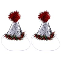 2PCS犬クリスマス帽子クリスマス写真小道具ペットコスチューム子犬子猫小猫犬用アクセサリー