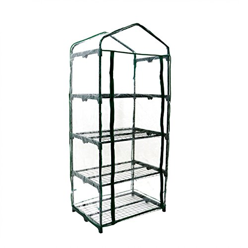 Oypla Growhouse 4-Tier Mini Garden Greenhouse Ideal For Propagating Seeds And Bringing-on Plants