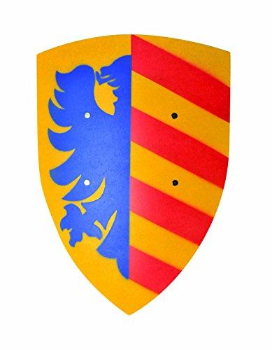V A H - Schilde in Lancelot (Blau/Gelb), Größe Groß (Breite 36cm / Länge 50cm)