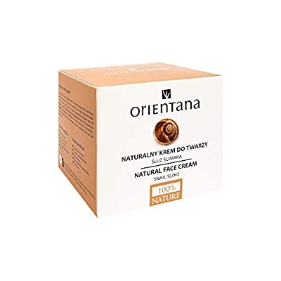 Orientana 98% NATURAL SNAIL FACE CREAM for Day and Night - ANTI Aging Wrinkle Pigmentation and Redness - Ayurvedic MOISTURISER For Women With Shea Butter - Firming And Hydrating Every Skin Type, 50ml by Orientana