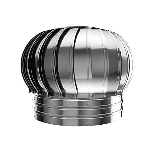 JXJ (110-200 mm) Schornsteinkappen und -verkleidungen Schornstein-Spinner-Verkleidung Edelstahl-Spinner Anti-Downdraught-Kaminverkleidung mit drehbarer Kappe Belüftungsrohr, 200 mm