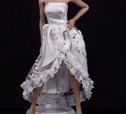 Kleding Model 1/6 Schaal Vrouwelijke Kleding Witte Avond Jurk Banket Rok Lady Bruiloft voor 12 Inch Actie Figuur Lichaam Accessoires
