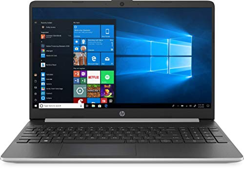 New HP 15.6' HD Touchscreen Laptop Intel Core i3-1005G1 8GB DDR4 RAM 128GB SSD HDMI Bluetooth 802.11/b/g/n/ac Windows 10 15-dy1731ms Silver