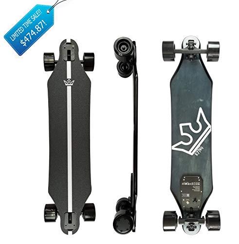 "KYNG 37"" Electric Skateboard with Remote, 22 MPH / 960W Dual Motors / 11 Mile Range 