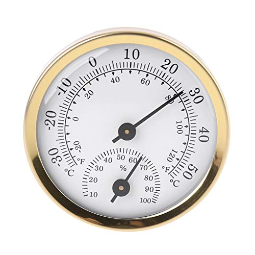 Sweo Analog Thermometer Hygrometer Feuchtigkeitssensor Temperaturmesser 58 mm Haushalt für Wetterstation zum Aufhängen Zuhause Büro Outdoor