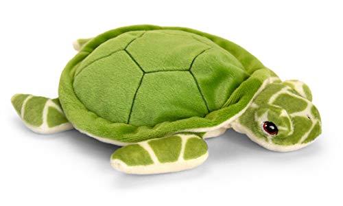 tachi Kuscheltier Schildkröte grün, Plüsch Meerestier liegend 25 cm, Stofftier aus 100% recycelten Material