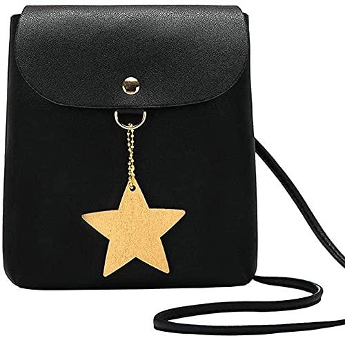 LEOCEE Bolso bandolera Luck Star, bolsos de diseñador para mujer, bolsos pequeños para teléfono, bonito Mini bolso de hombro de color sólido, bolsos bandolera para teléfono