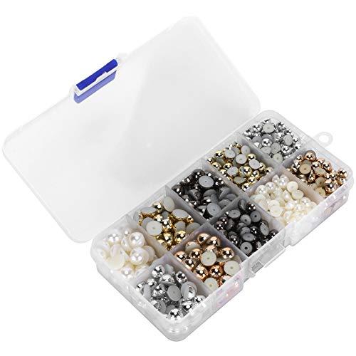 Perlas artesanales Perlas falsas 6 mm 8 mm Perlas Perlas semicirculares de colores para manualidades DIY Craft Scrapbook Zapatos Bolsas