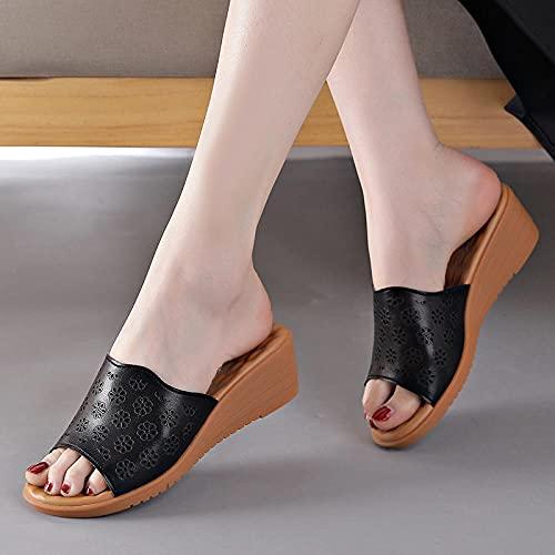 Kirin-1 Zapatillas De Casa para Mujer Verano,Zapatillas De Novia,Zapatillas Sin Fondo Antideslizante...