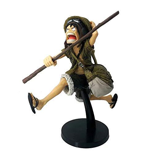 HYKCSS One Piece Monkey D. Luffy Hat Sombrero de Paja Big Barco Capacidad de Fruta de Goma Movimientos Especiales Material de PVC Anime Figura Modelo Modelo Toys Regalos