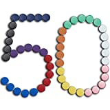DARUITE 50PCS Heavy Duty Round Plain Magnets for Office, Refrigerator, Whiteboard, Kitchen and Home Magnet - 20 x 8 mm