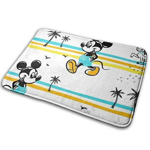 Bienvenido, alfombrilla informal para puerta de Mickey Mouse, alfombra de entrada para interiores y exteriores, alfombrillas de goma, alfombrillas finas antideslizantes para alfombrilla de puerta dela
