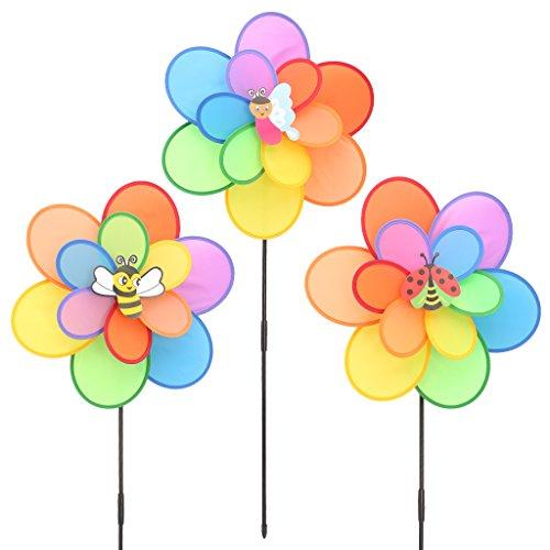 Exing Windrad Windmühlen Pinwheel Windspiel Windräder, Polyester 66x38cm - Gärten/Terrassen/Balkone Dekoration Spielzeug Für Kinder