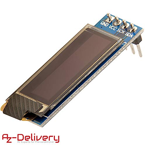 AZDelivery Display OLED 128 x 32 Pixel 0,91 Pollici I2C per Arduino, Raspberry Pi con eBook