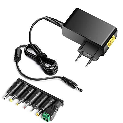 HKY 12V 24W Adaptador Cargador Universal para Acer Iconia Tab A500 A501 A100 A200 A210 Tab W3-810 Tablet PC,Megavision MV140,MV151,MV170,MV171,Samsung Chromebook,Pantalla LCD,escáner,enrutador