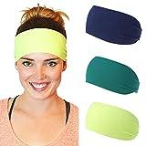 Fashband 4 Pack Diademas Boho Bandas de pelo anudadas Envoltura de cabeza elástica antideslizante Accesorios para el cabello al aire libre para mujeres y niñas
