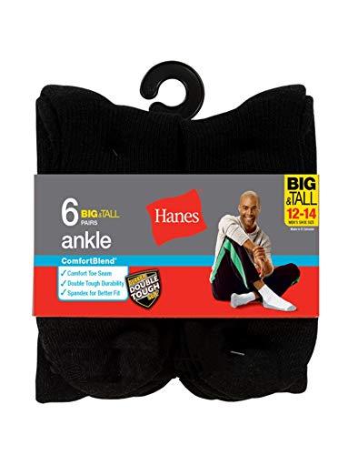 Hanes Men's ComfortBlend Ankle Socks