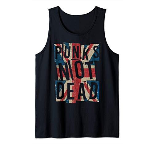Punks Not Dead - Vintage - UK London Flag - Punk Is Not Dead Camiseta sin Mangas