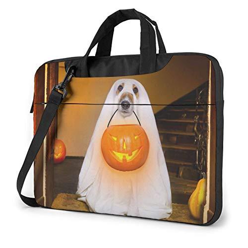 Chiens déguisés pour Halloween Sac d'ordinateur Portable Sac de Messager Porte-Documents Cartable épaule bandoulière Sac de Travail