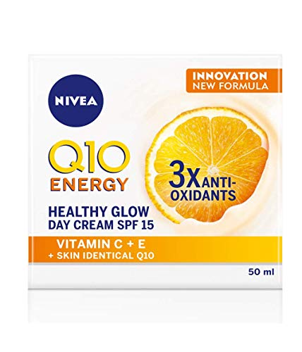 Nivea Q10 Energy Healthy Glow Face Day Cream (50ml), Energising Day Cream, Face Cream for Women, Moisturising Cream, Face Cream with Q10, Vitamin C and Vitamin E