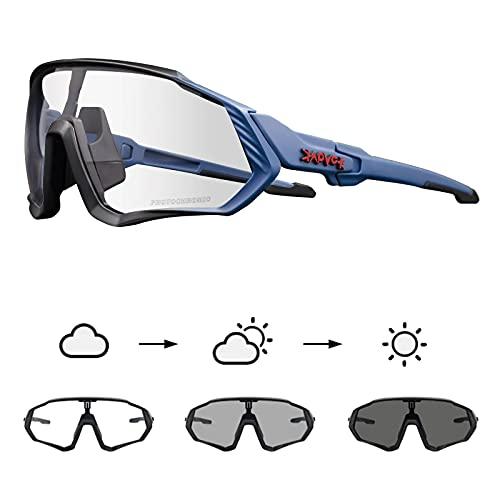 KAPVOE Gafas de Ciclismo Fotocromáticas con TR90 Gafas de Sol Deportivas Mujeres Hombres Running Transparente MTB Accesorios de Bicicleta 15