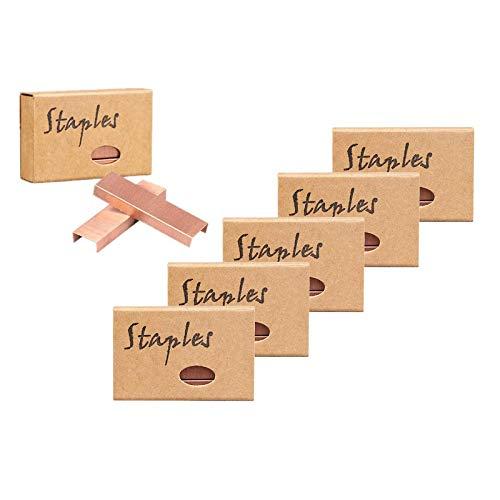 Grapas estándar de oro rosa para grapas 26/6, tamaño 5700, paquete de 6