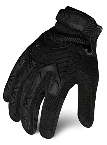 Ironclad EXOT-IBLK-04-L Tactical Operator Impact Glove, Stealth Black, Large