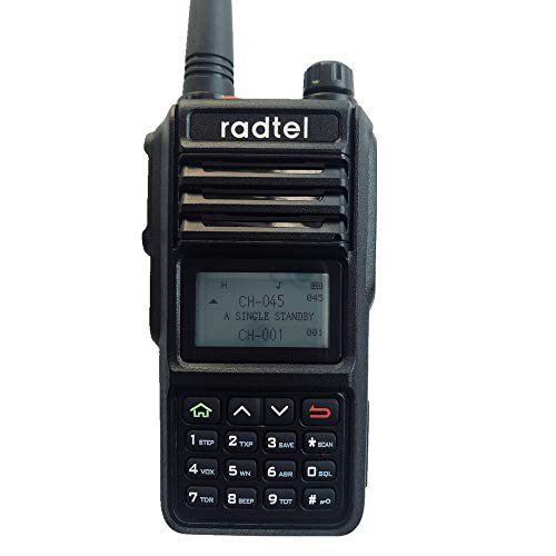 Radtel RT-480 5 Watt 256CH IP67 Long Range Dual Band Waterproof Walkie Talkie 136-174mhz (VHF) 400-480mhz (UHF) Amateur (Ham) Portable Two-Way Radio for Hiking Camping Marine