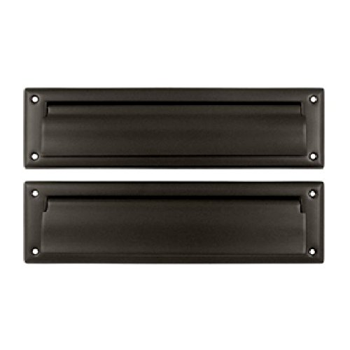 Deltana MS212U10B 13 1/8-Inch Mail Slot with Solid Brass Interior Flap