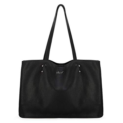 Women Handbags Purses Two Tone Satchel Bags Top Handle Shoulder Bags Work Tote (B087BHZ8KR)