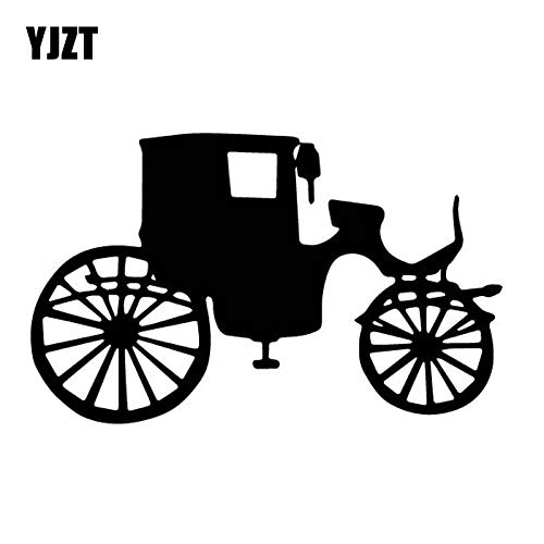 JYHW 15 2 CM * 9 4 CM Bonito Auto propulsado Triciclo Vinilo Pegatina Hermosa decoración Coche Pegatina Lindo Negro/Plata c27-1004-Black