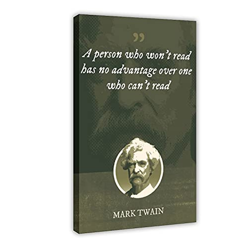Mark Twain - Póster clásico de celebridades políticas, 2 dormitorios, decoración deportiva, paisaje, oficina,...