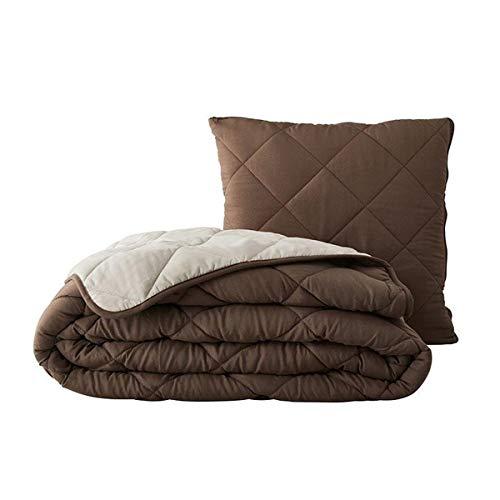 GMD Living 2 in 1 Sofadecke, Bettdecke, Kuscheldecke, Magic Kissen, in versch. Ausführungen, Farbe:braun/beige, Größe:140 x 200 cm