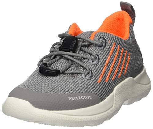 Superfit Jungen RUSH Sneaker, Grau (Hellgrau/Orange 25), 35 EU