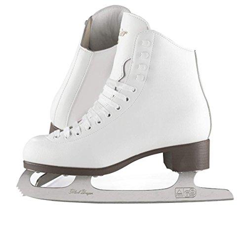 (Adult 9, White) - Jackson Ultima GSU120 GSU121 GSU124 Glacier White Figure Ice Skates for Women and Kids