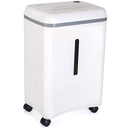 WOLVERINE 8-Sheet Super Micro Cut High Security Level P-5 Ultra Quiet Paper/Credit Card Home Office Shredder with 4.5 gallons Pullout Waste Bin SD9101 (White)