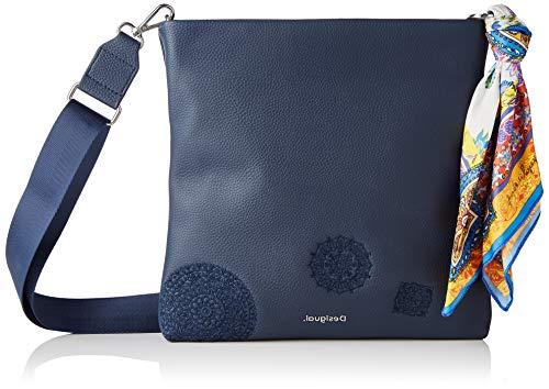 Desigual PU Body Bag, Sac de Sport Across. Femme, Bleu,...