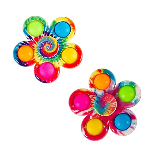 YEAHPY 2 Pack Pops Fidget Spinner Rotatable Simple Dimple Fidget Toy, Stress Relief Anti-Anxiety...