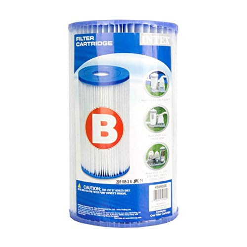 Intex 29005E Swimming Pool Type B Replacement Easy Clean Dacron Material Filter Pump Cartridge (4 Pack)
