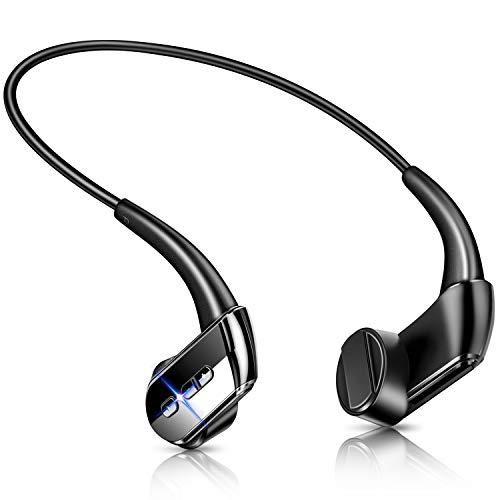 【最新Bluetooth5.1技術 Qualcommチップ搭載】 骨伝導イヤホン Bluetooth イヤホン ブルートゥース イヤホン スポーツ ワイヤレスイヤホン Hi-Fi 高音質 超軽量 耳掛け式 両耳通話 CVC8.0ノイズキャンセリング 防水機