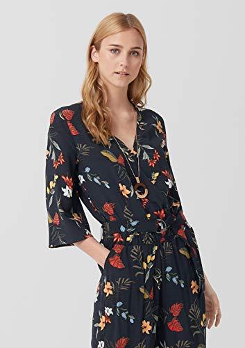 s.Oliver RED Label Damen Jumpsuit mit floralem Print, navy - 6