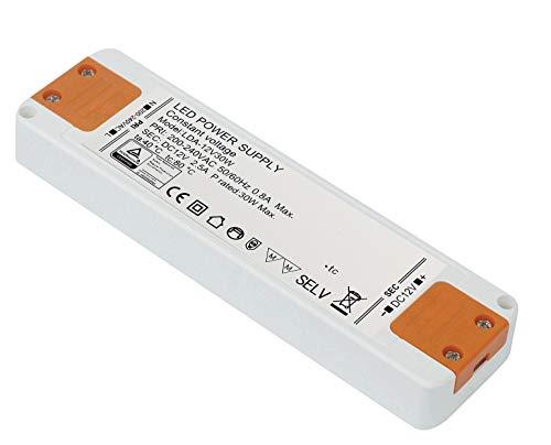 Kambo Transformator 230V 12VDC LED 30W 2.5A Trafo Überlastungsschutz Treiber Super Slim 1 Pack Für G4 MR11 MR16 GU5.3 LED Birne Sowie Lichtstreifen