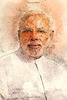 Narendra Modi Notebook: Famous People Notebook With 120 Lined Pages, Legendary Celebrities, Actors, Actress, Singers, Writ...