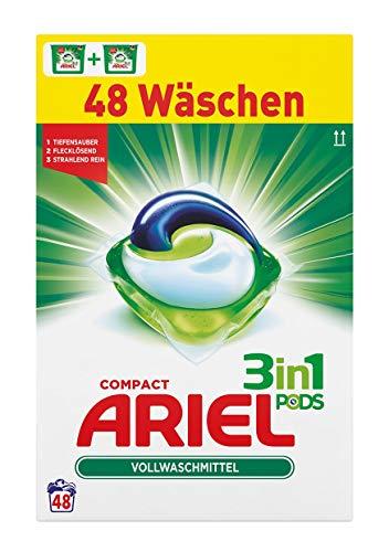 Ariel 3in1 Pods Vollwaschmittel, 2er Pack (2 x 24 Waschladungen)