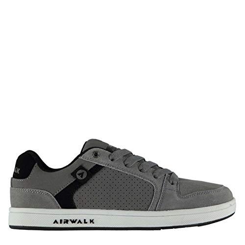 Airwalk Brock Junior - Zapatillas de skate para niños con cordones para deporte, casual, color gris