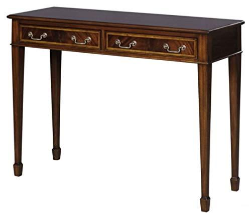 Casa Padrino Jugendstil Mahagoni Konsole Braun 102,5 x 36,3 x H. 78,6 cm Jugendstil Konsolentisch mit 2 Schubladen